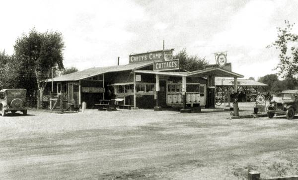 Carty's Camp vintage photo. Needles, Route 66, California