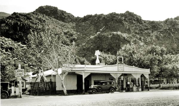 Cliff House in a 1920s photo, Newberry Springs California