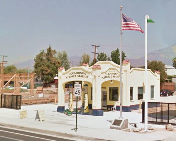 present appearance of the old Richfield Service Station in Rancho Cucamonga