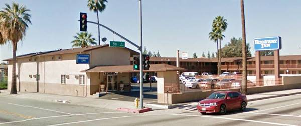 present appearance of the former Desert Inn Motel in San Bernardino, now Rodeway Inn