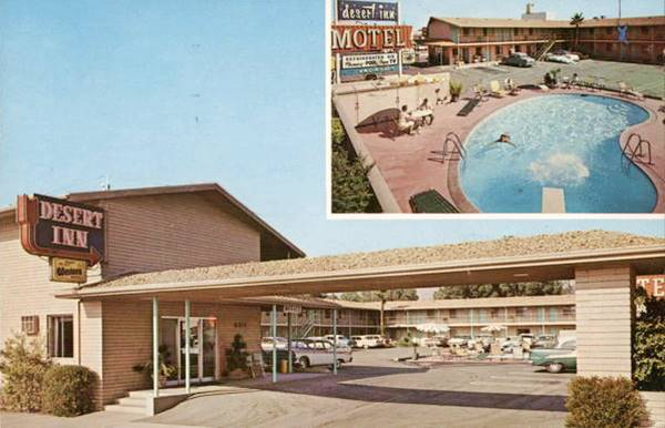 the Desert Inn Motel on Route 66 in San Bernardino, California