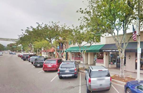 present appearance of downtown La Verne CA