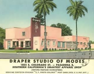 Vintage postcard Draper Modes