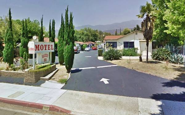 View of the El Rancho Motel on, Route 66, California