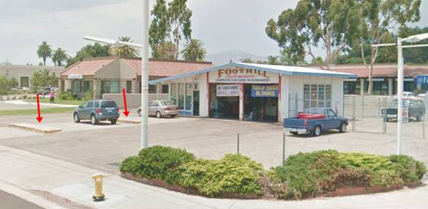 Former service station on Route 66 in Pomona, CA