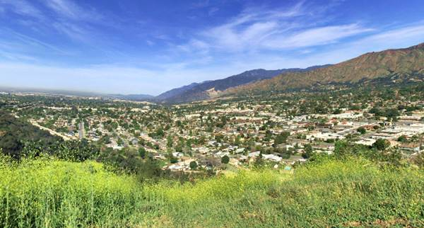 Glendora from South Hills, looking northwest
