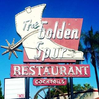 Classic Golden Spur sign on Route 66 Glendora