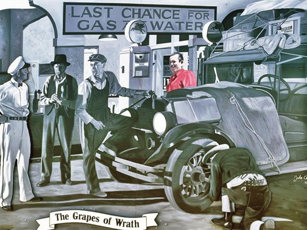 The Grapes of Wrath billboard, California