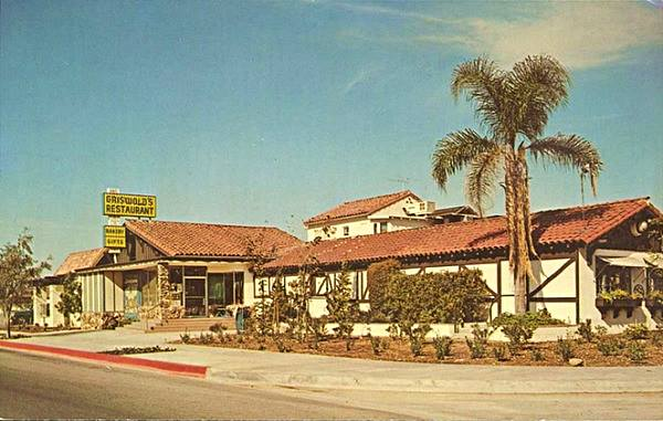 Griswold's Restaurant in a vintage postcard, Route 66 in Claremont, California
