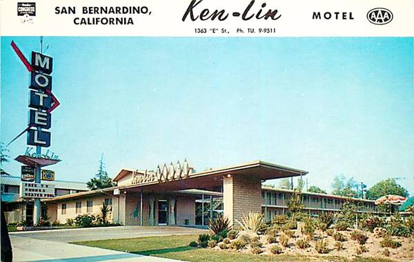 the Ken Lin on Route 66 in San Bernardino, California
