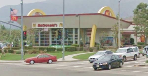 present appearance of the McDonald's with the Golden Arches in La Verne