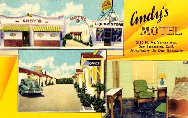 the old Andy's Motel, now the Lido Motel on Route 66 in San Bernardino, California