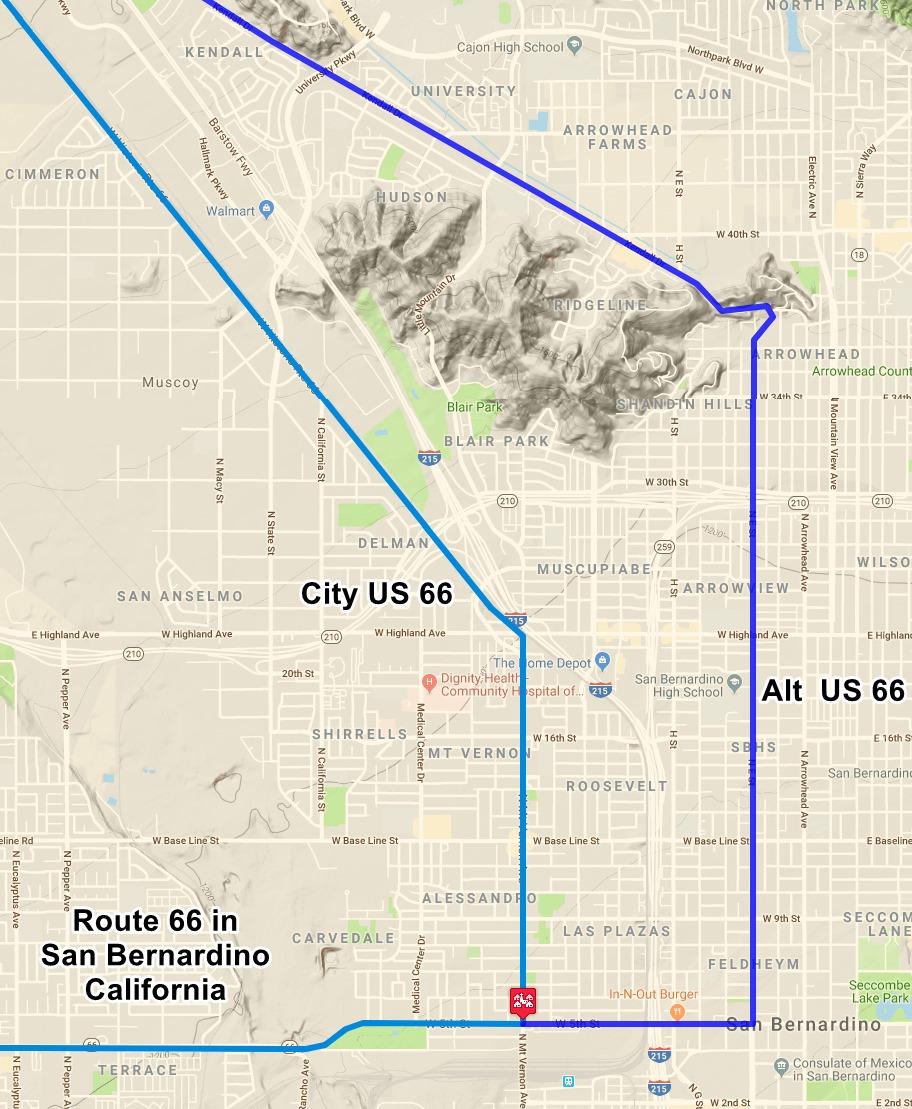 San Bernardino, Route 66 California on