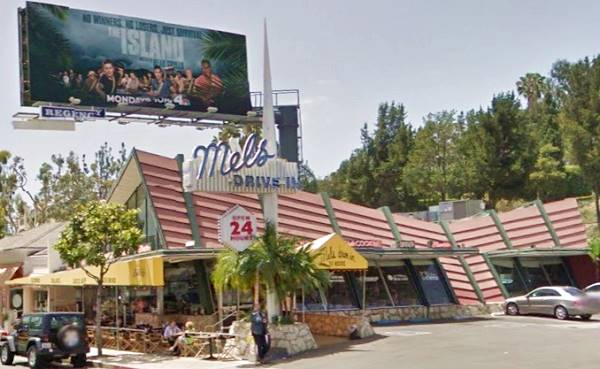 Googie style Mels Drive in, Sunset Strip