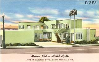 Miller Motel vintage postcard