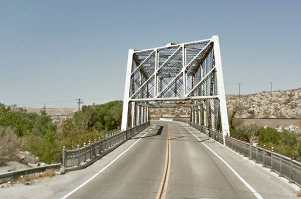 Route 66 steel truss bridge in Oro Grande, across the Mojave River