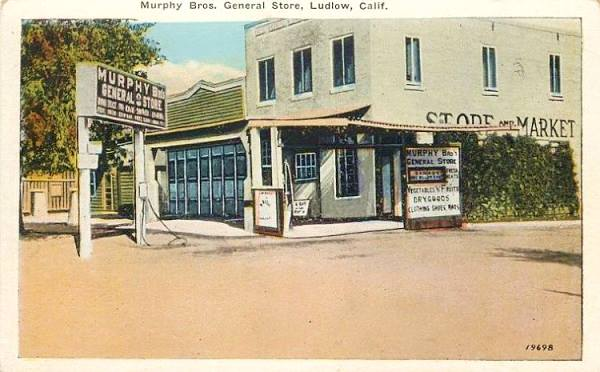 Murphy Store in a 1926 postcard in Ludlow, Route 66 California