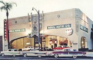 old postcard of the Noll Auto