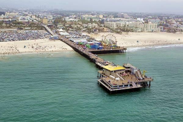 Aerial view of Santa Monica Pier, Santa Monica