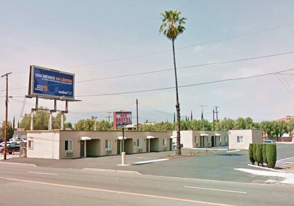 present appearance of the Rex Motel in Rialto