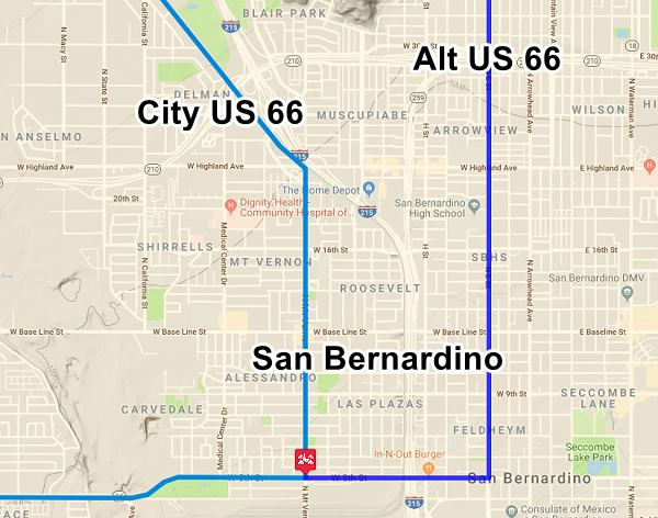 San Bernardino Route California - Map of san bernardino county