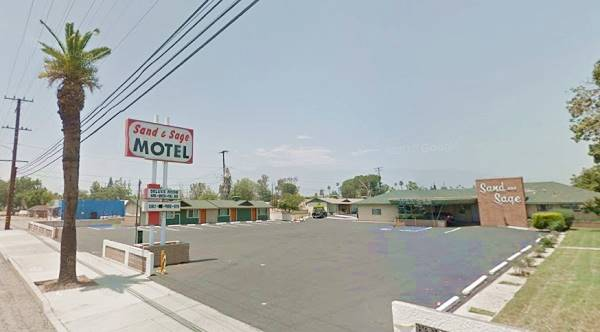present appearance of the Sand and Sage motel in Fontana