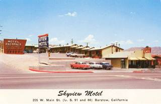 Skyview Motel in a 1950s postcard