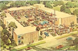 The Arroyo Sojourn Motor Inn, vintage postcard