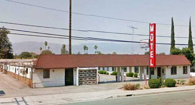 present appearance of the Terrace Motel in San Bernardino