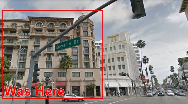 Site of the former Beverly Theatre in Beverly Hills