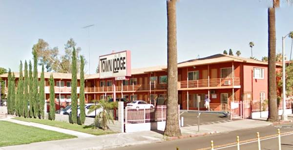 present appearance of the Travelodge Motel in San Bernardino