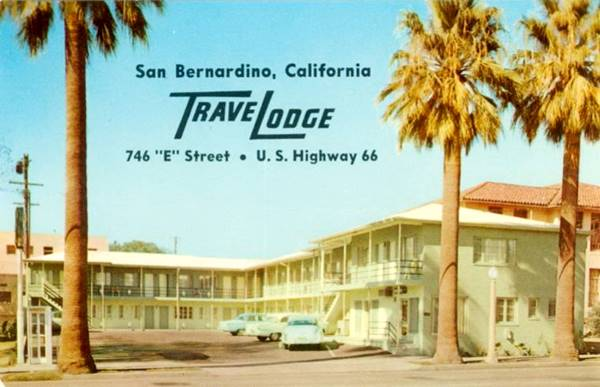 the Travelodge Motel on Route 66 in San Bernardino, California