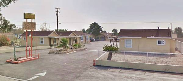 present appearance of the La Villa Motel in Fontana