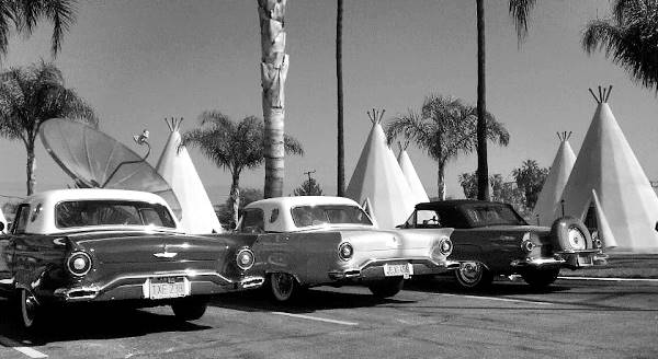 the classic Wigwam Motel on Route 66 in San Bernardino, California