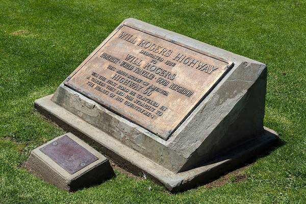 Will Rogers Memorial Plaque, Route 66 Santa Monica