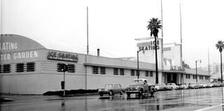 A  1960s photo of the Pasadena Winter Garden skating rink