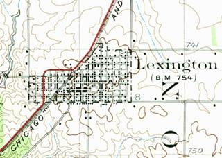 1926 USGS map of Lexington