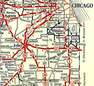 1928 Illinois State roadmap