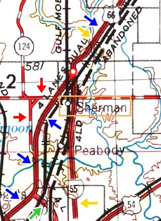 USGS map from 1958 Sherman US66