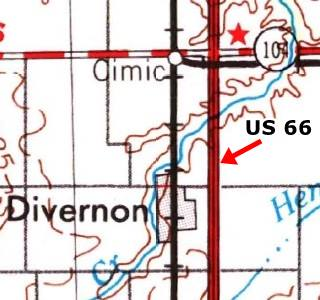 USGS map 1958 of Divernon