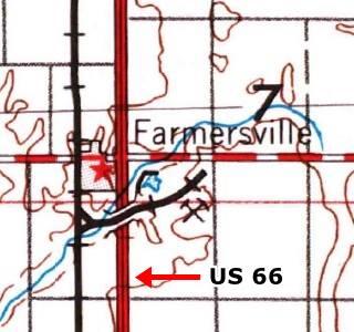 USGS map 1958 of Farmersville
