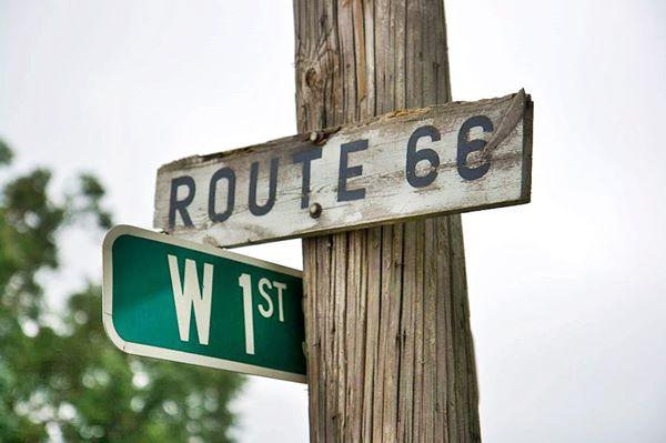 Route 66 sign Pontiac, Illinois
