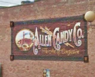 Allen Candy Co. Mural in Pontiac US66