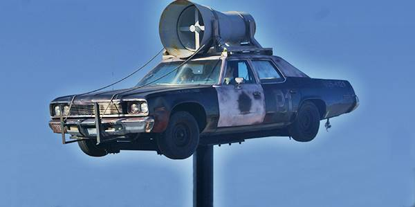 The Bluesmobile, a replica in Joliet Route 66