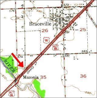 1945 USGS map of Braceville