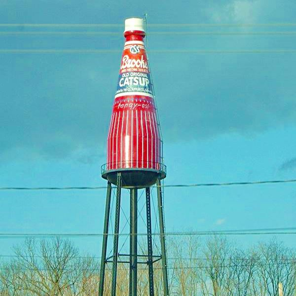 Gigantic Brooks Catsup Bottle Water Tower