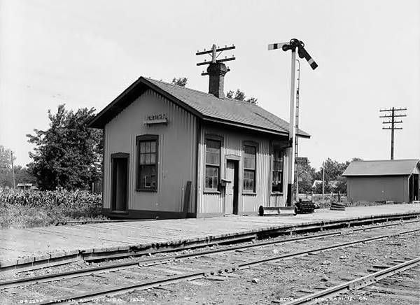 Old Depot in a 1905 photo in Cayuga Route 66