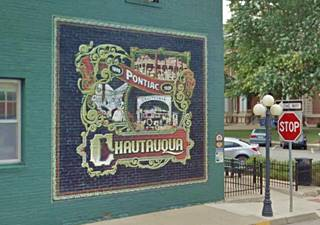 Chautauqua Assembly mural in Pontiac US66