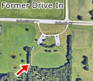 Former Drive In Theater in 1954 satellite view in Collinsville US66
