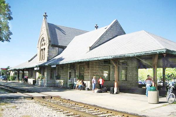 Historic Railway Depot in Dwight Route 66
